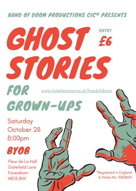Spooky Stories for Grown Ups @ Fleur de Lis Hall